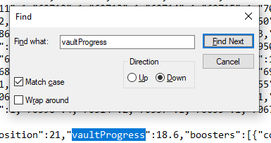 MTG Arena log file vaultProgress