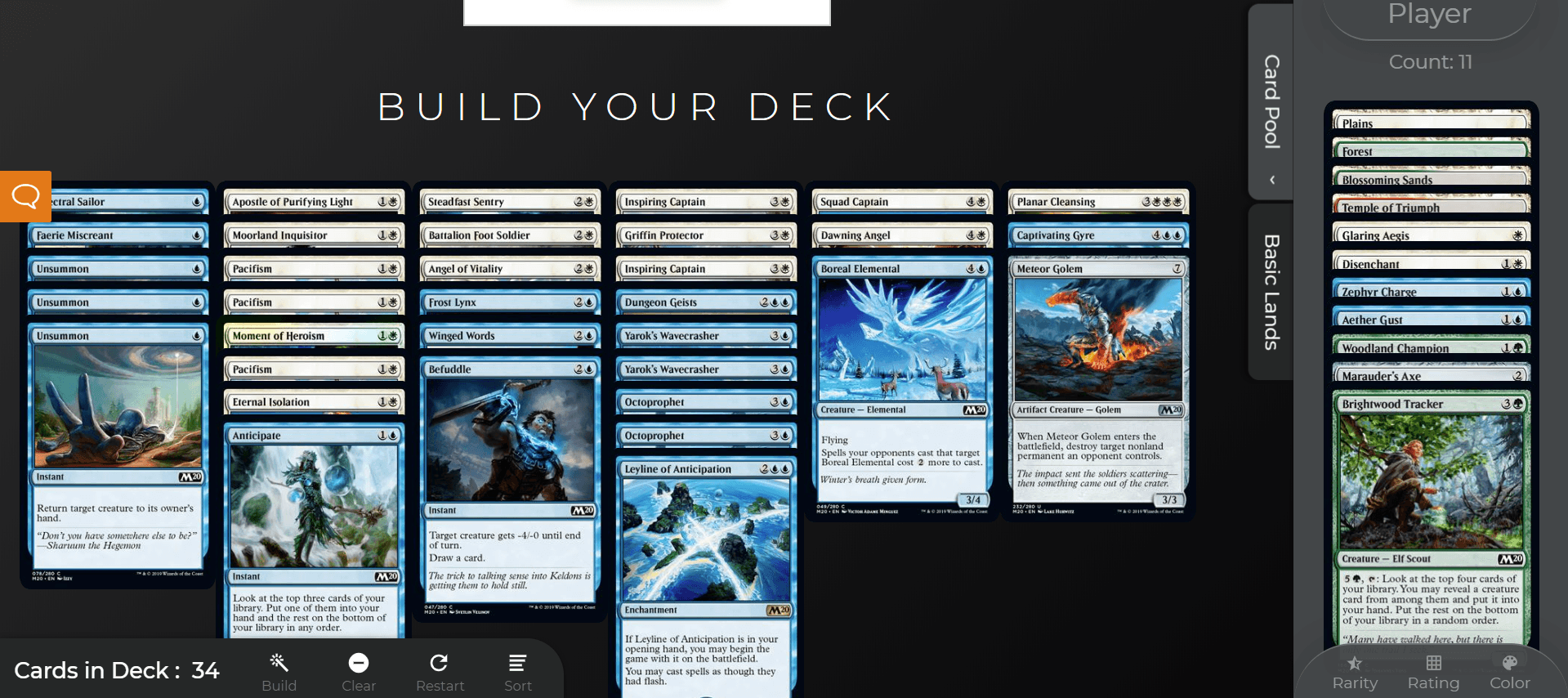 deck already partially built after drafting