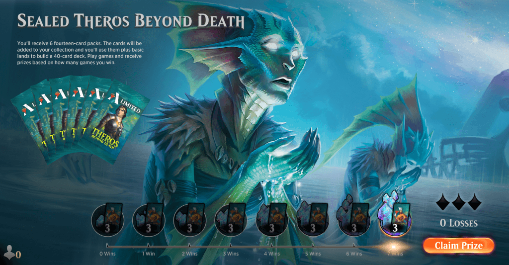 MTG Arena Sealed Theros Beyond Death event lobby