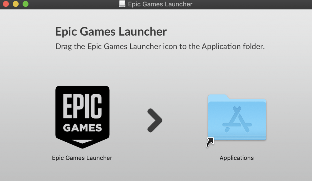 Move Epic Games to Applications folder