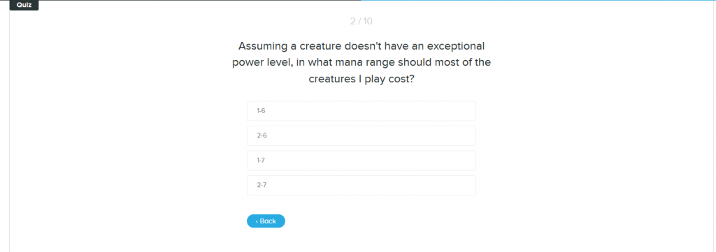 Sample quiz question from Ben Stark course