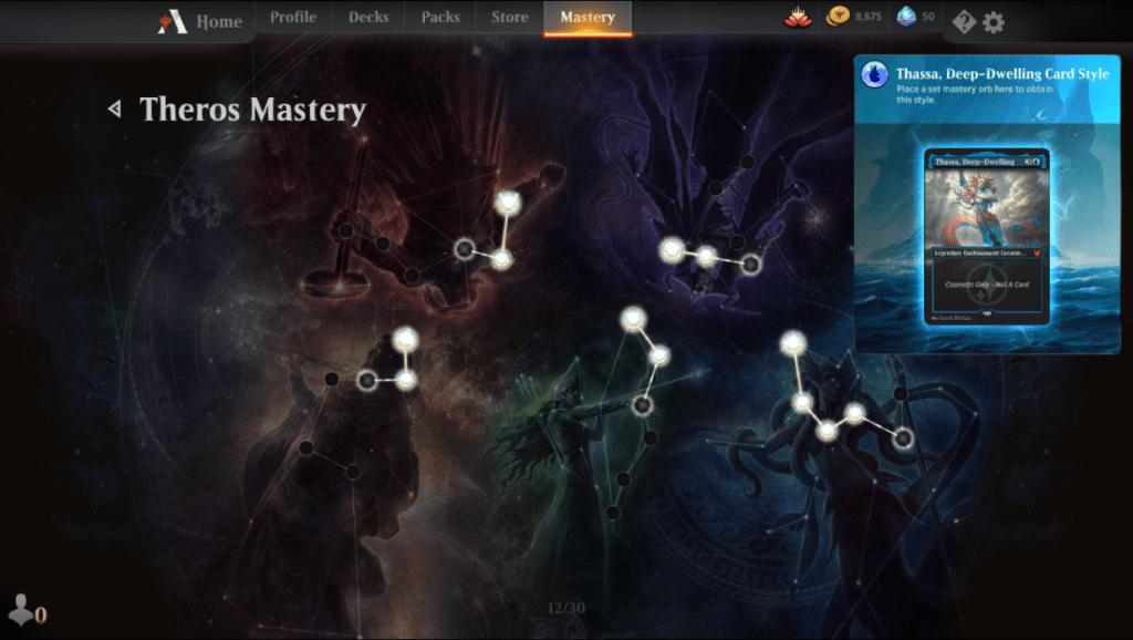 MTG Arena Theros Mastery tree
