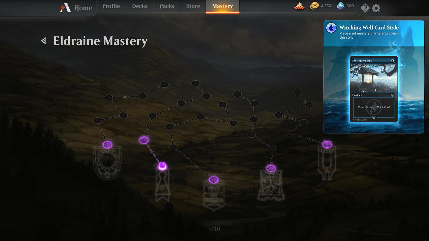 MTG Arena Eldraine Mastery Tree