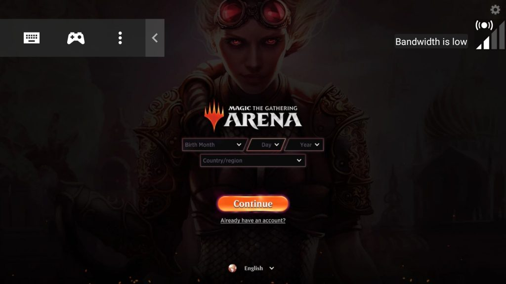 NVIDIA GeForce NOW arena sign-up