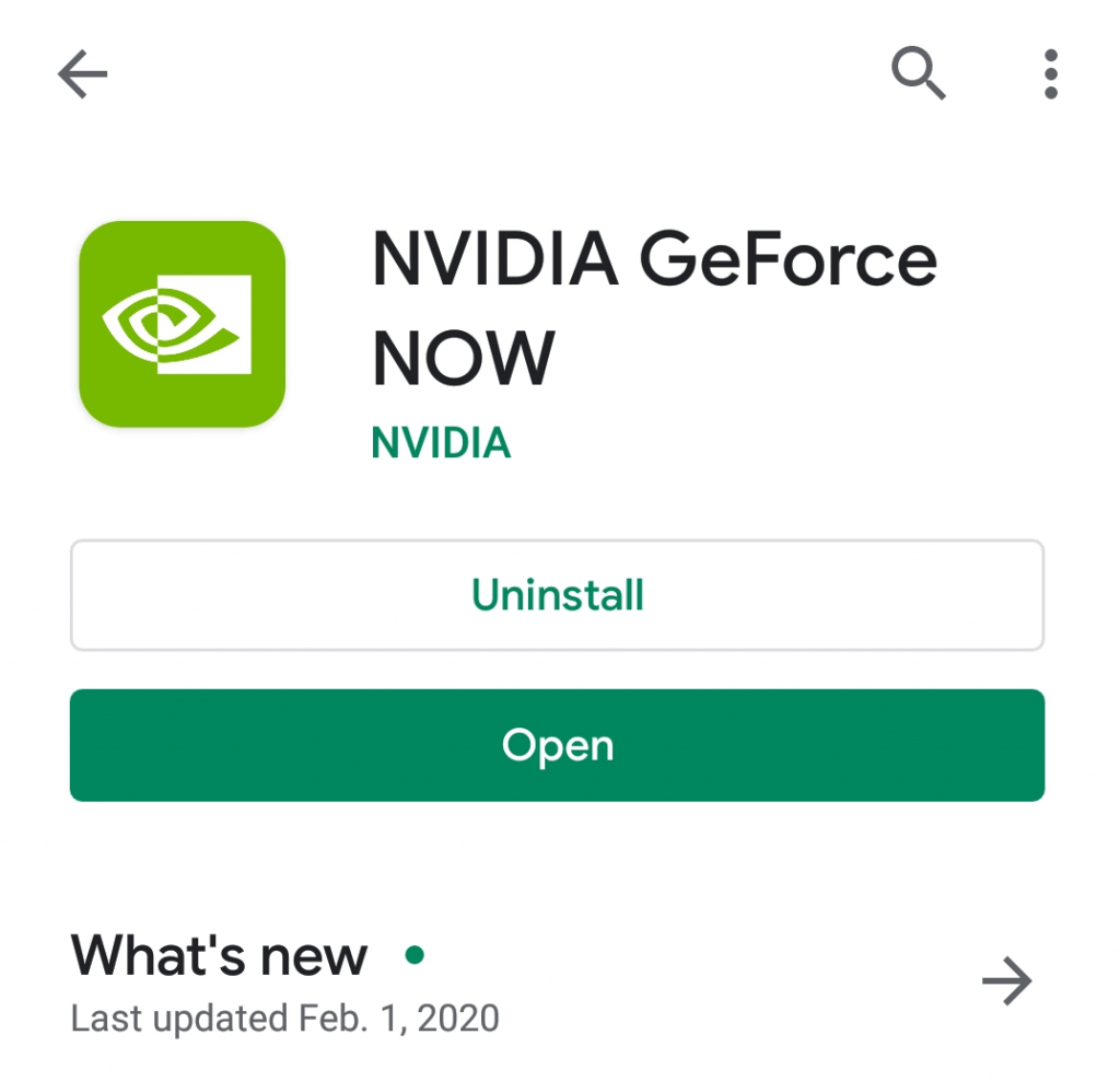NVIDIA GeForce NOW on GooglePlay