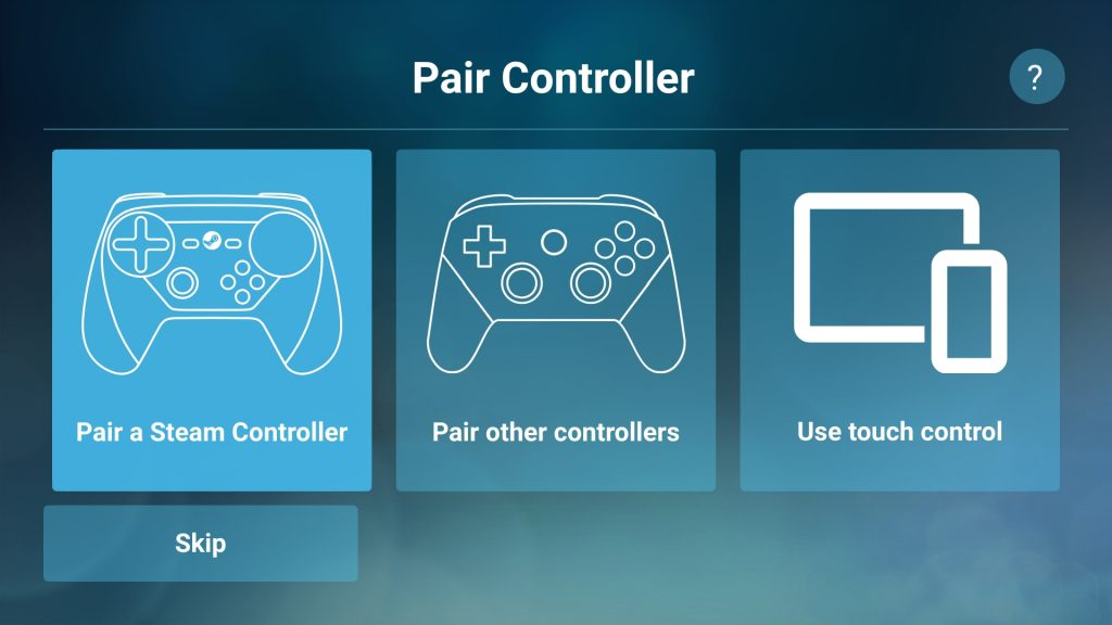 "Steam Link on Android ""Use touch control"""