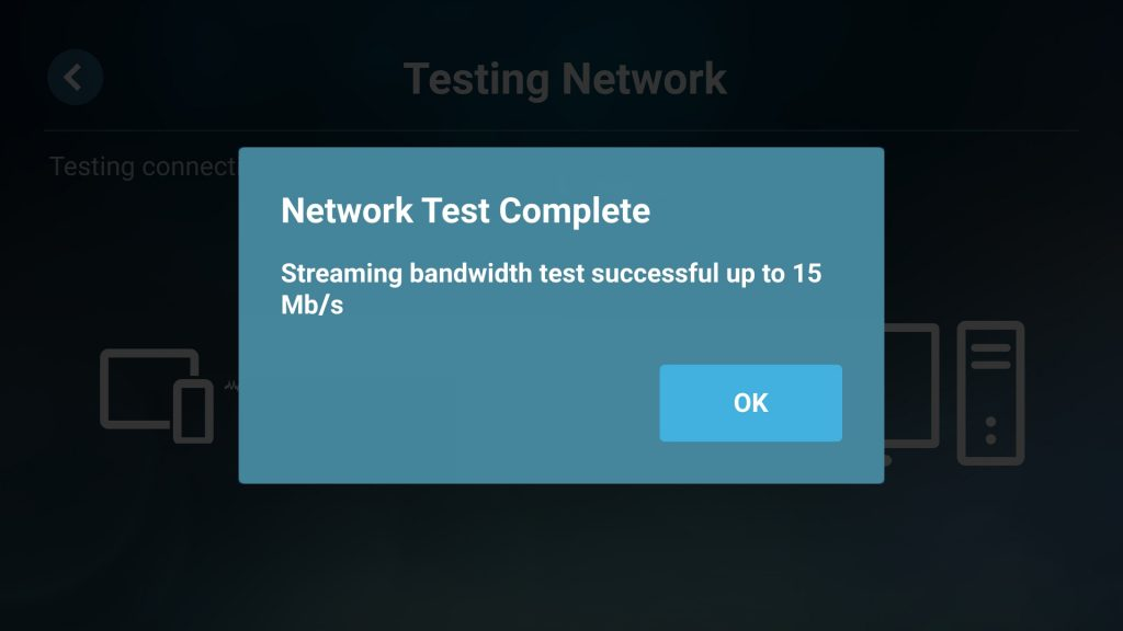 Steam Link on Android Network Test Complete