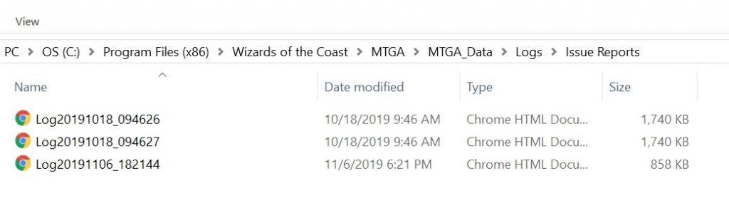 the log file windows directory