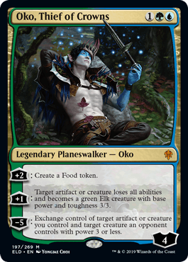 Oko, Thief of Crowns MTG planeswalker card