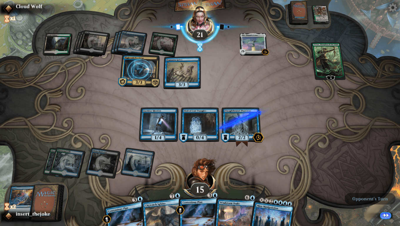Opponent's fuse (rope) timer in MTG Arena