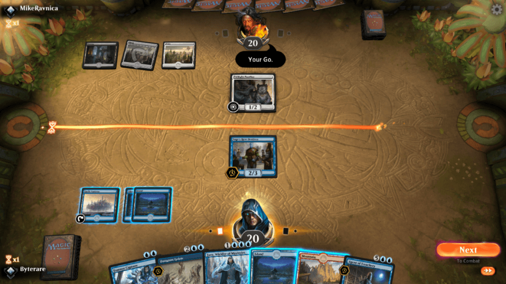 Your fuse (rope) timer in MTG Arena