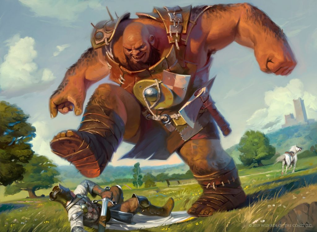 Bonecrusher Giant MTG card art by Victor Adame Minguez