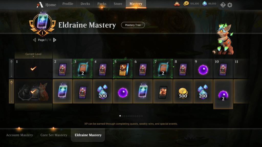MTG Arena Eldraine Mastery