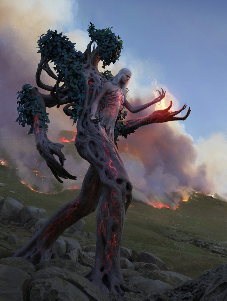 Wrenn and Six MTG card art by Chase Stone