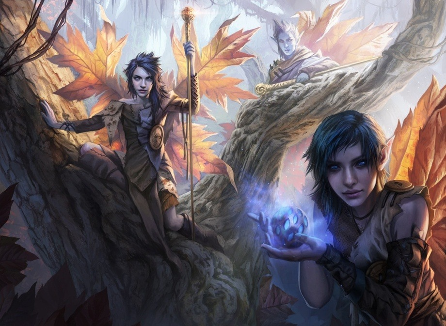 Fae of Wishes MTG art by Magali Villeneuve