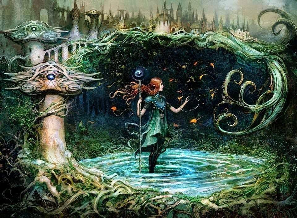 Growth Spiral MTG card art by Seb McKinnon