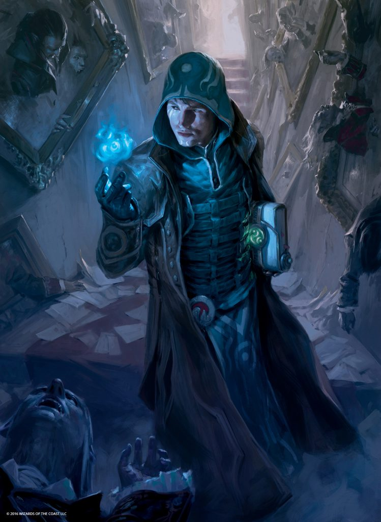 Jace, Unraveler of Secrets MTG card art by Tyler Jacobson