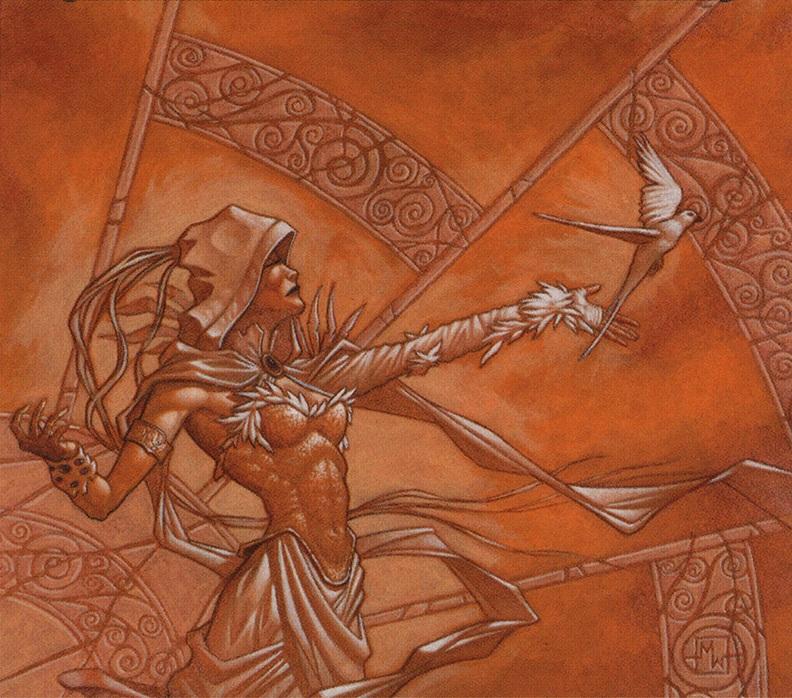 Serra MTG card art by Matthew D. Wilson