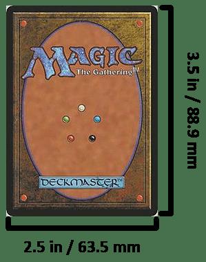 MTG card dimensions