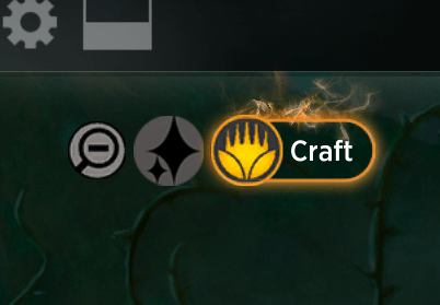 MTGA Craft option in deck building