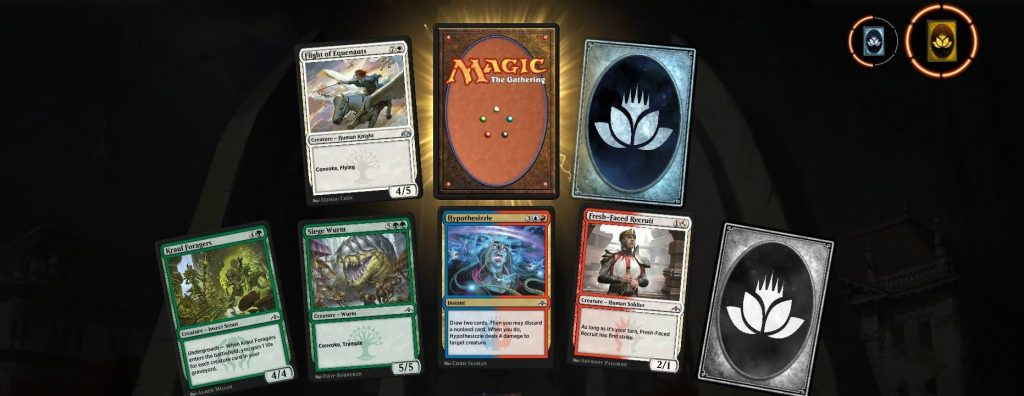 MTG: Arena opening pack with Wildcards