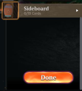 MTGA deck building Sideboard