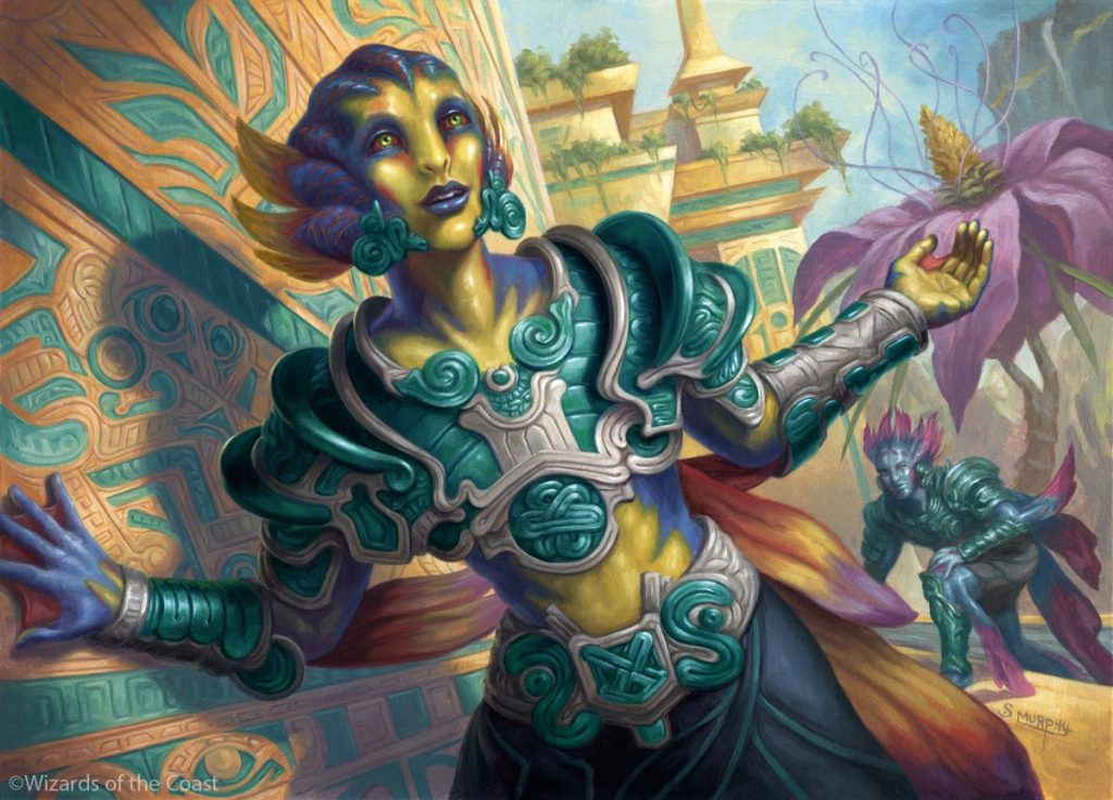 Jungleborn Pioneer MTG card art by Scott Murphy