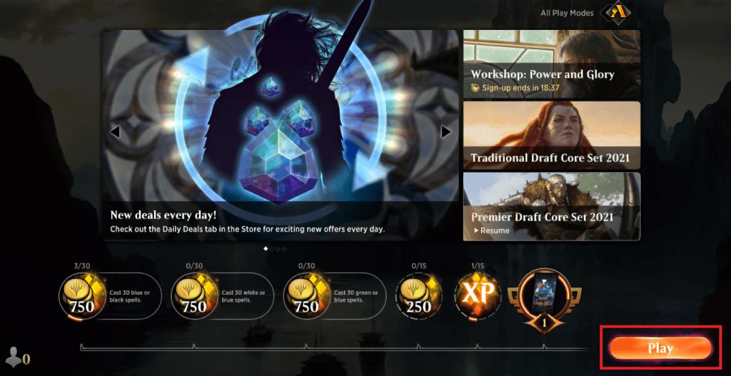 MTG Arena Play button