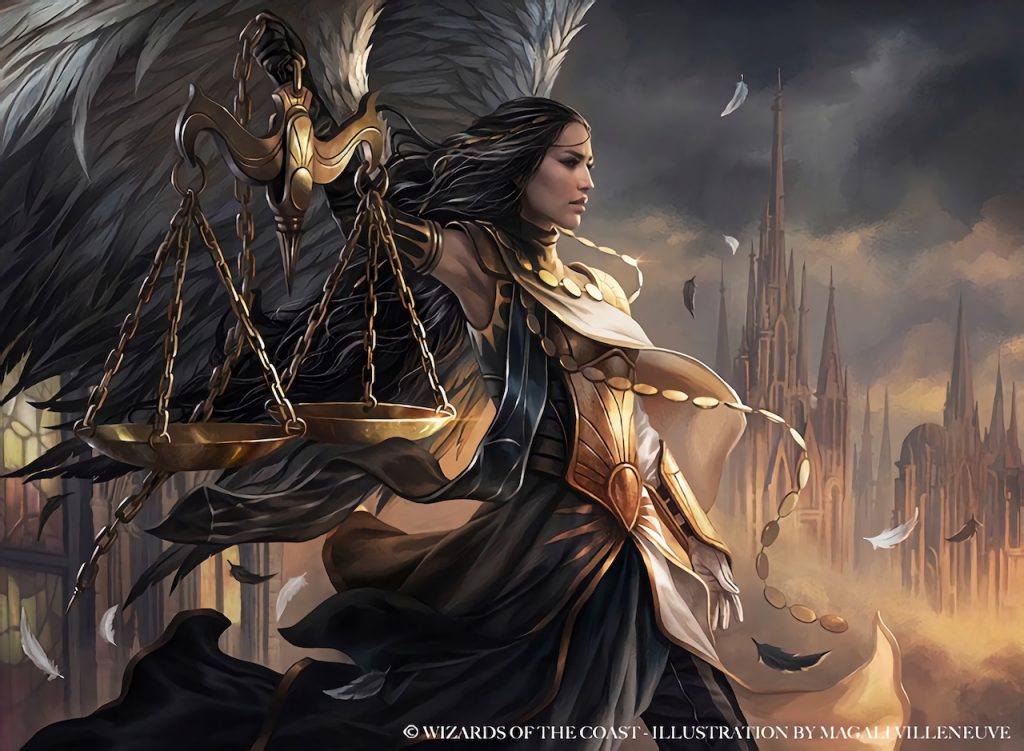 Seraph of the Scales MTG card art by Magali Villeneuve