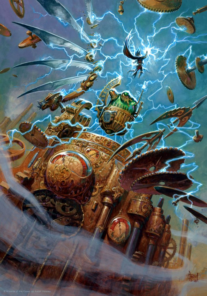 The Pieces are Coming Together MTG card art by Ralph Horsley