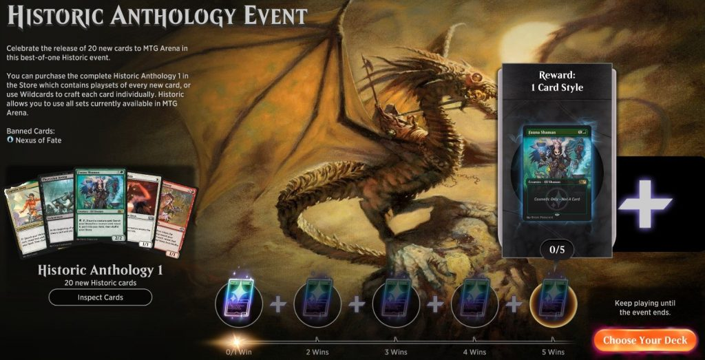MTG Arena Historic Anthology Event