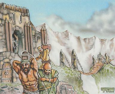 Balduvian Trading Post MTG card art by Tom Wänerstrand