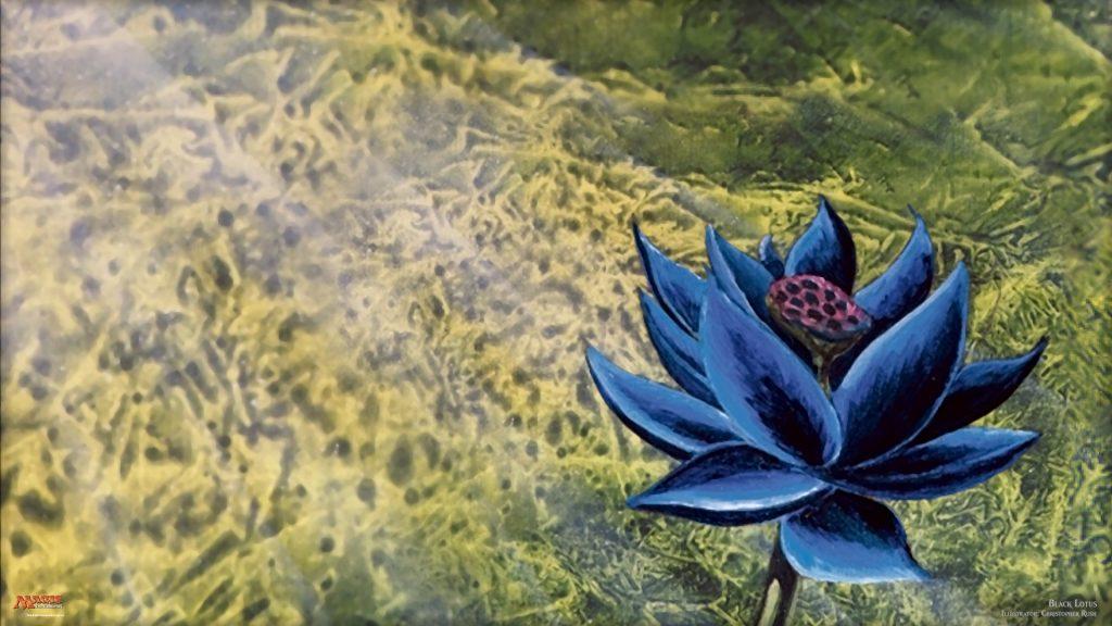 Black Lotus MTG card art by Christopher Rush