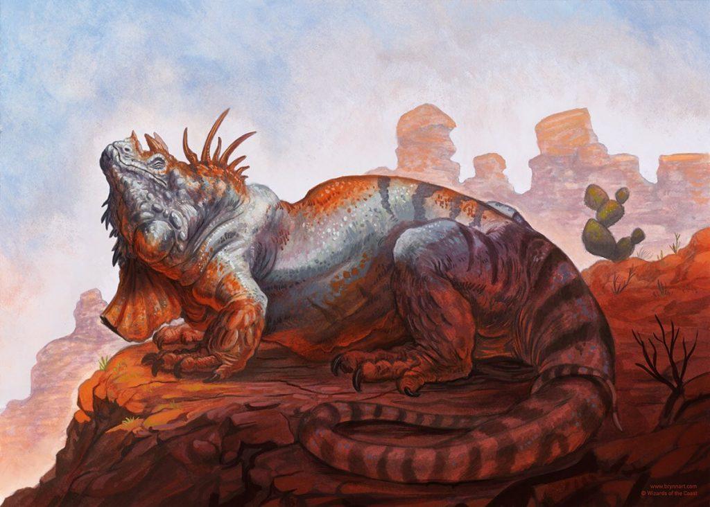 Common Iguana MTG card art by Brynn Metheney