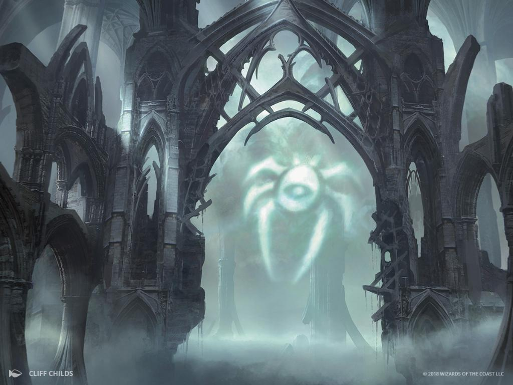 Dimir Guildgate MTG card art by Cliff Childs