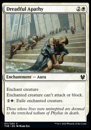 Dreadful Apathy MTG card
