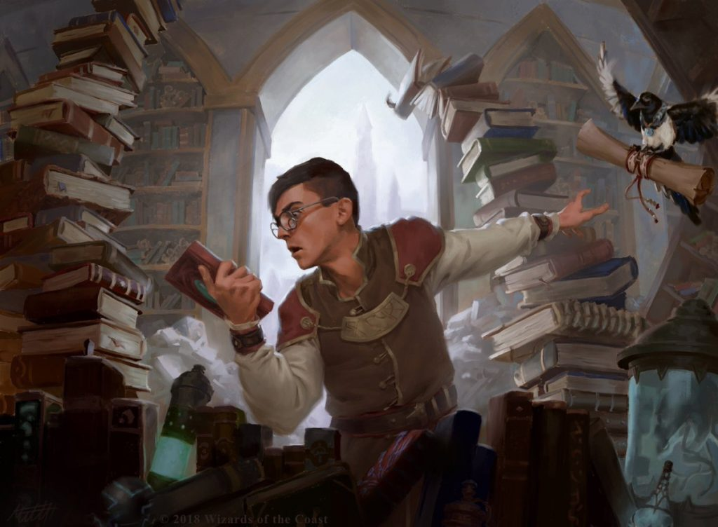 Frantic Search MTG card art by Mitchell Malloy