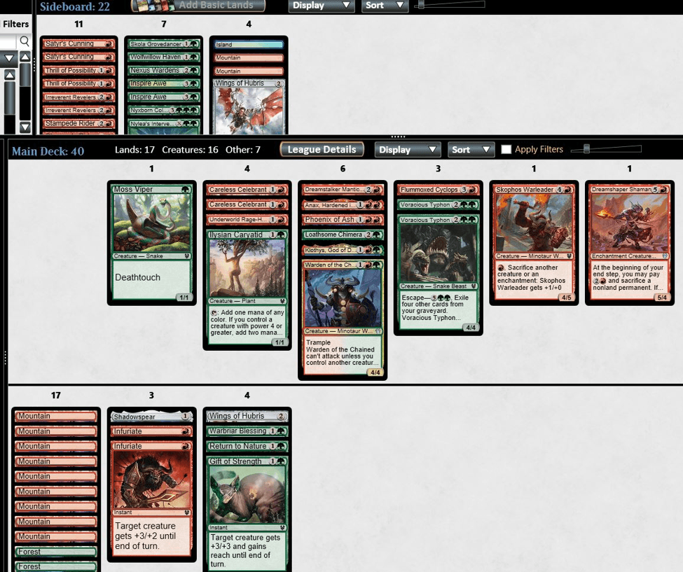 Gruul Beatdown MTGO draft deck