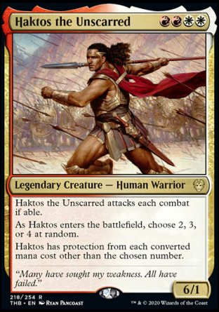 Haktos the Unscarred MTG card