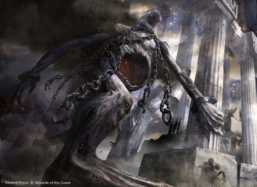 Kroxa, Titan of Death's Hunger MTG card art by Vincent Proce