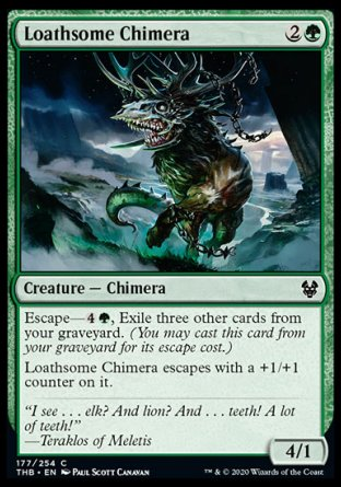 Loathsome Chimera MTG card