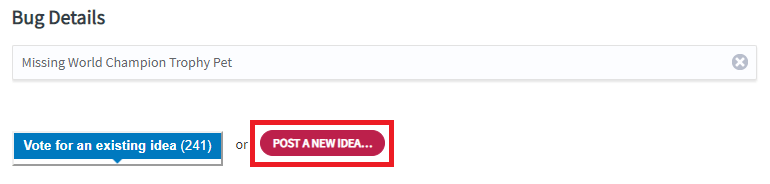 MTG Arean bugs post new idea button