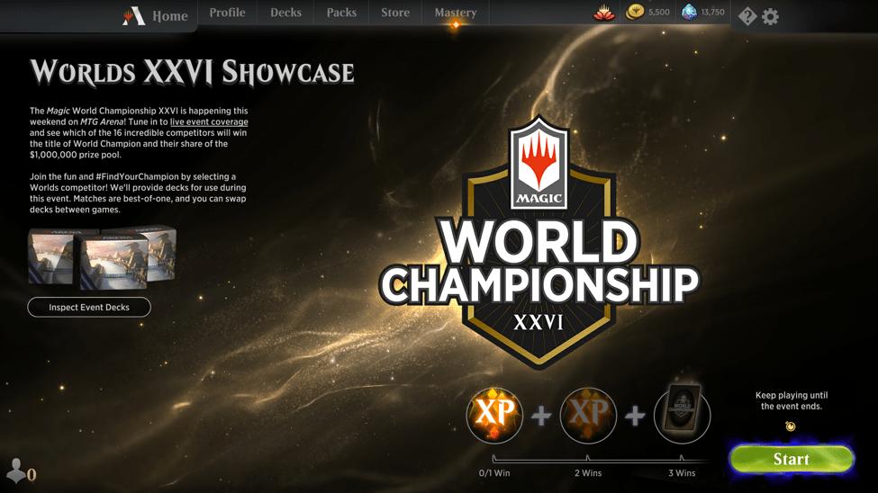 MTG Arena Worlds XXVI showcase event