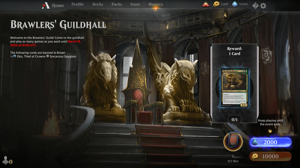 MTG Arena brawlers guildhall event