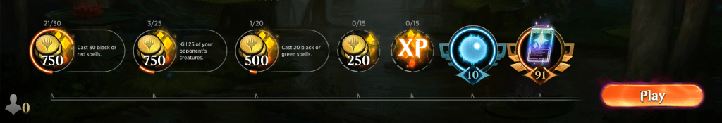 MTG Arena daily&weekly wins update