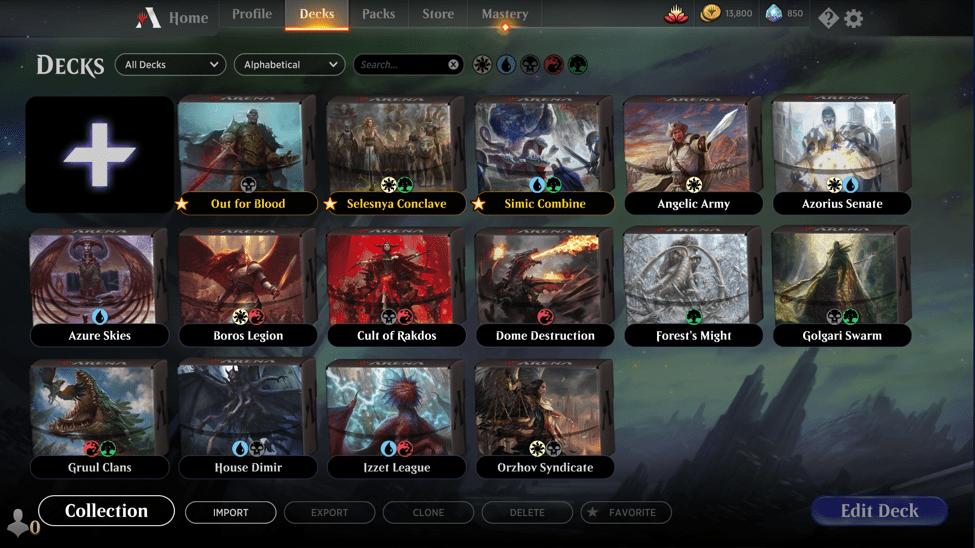 MTG Arena favorite decks