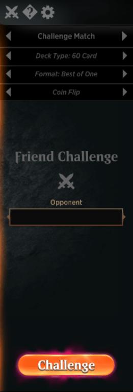 MTG Arena friends challenge setup
