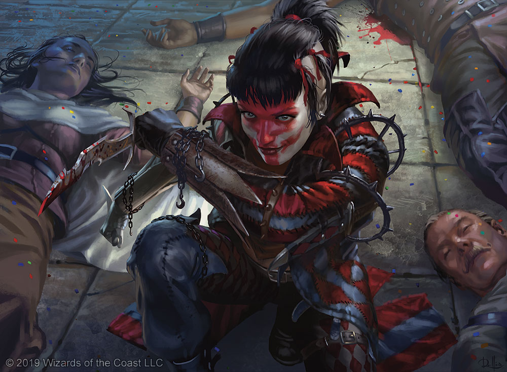 Massacre Girl MTG card art by Chris Rallis