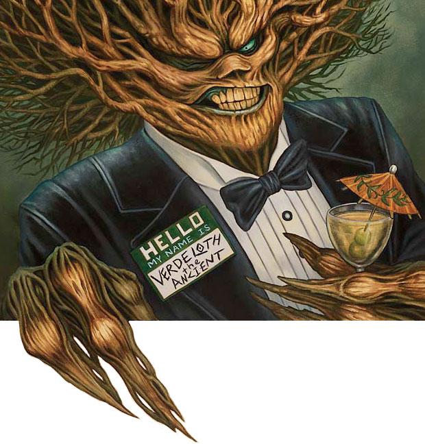 Name Dropping MTG card art by Tony Szczudlo