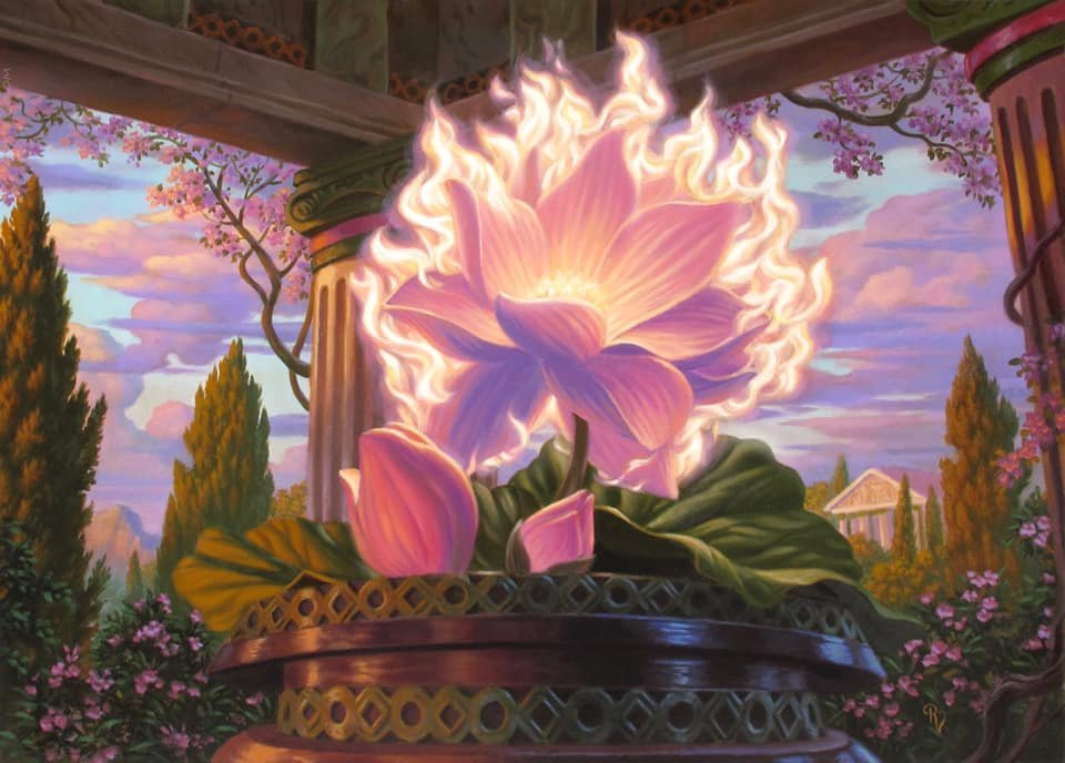 Nyx Lotus MTG card art by Raoul Vitale